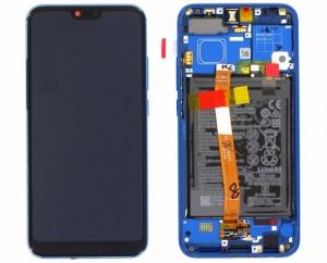 Dotyková deska Huawei HONOR 10 + LCD modrá (SERVICE PACK)