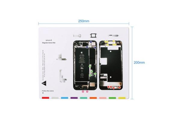 Magnetická podložka na opravu telefonu iPhone 8