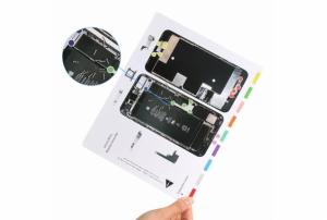 Magnetická podložka na opravu telefonu iPhone 8 PLUS