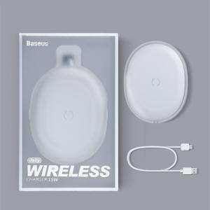 Indukční nabíječ Baseus Jelly WXGD, 15W barva bílá