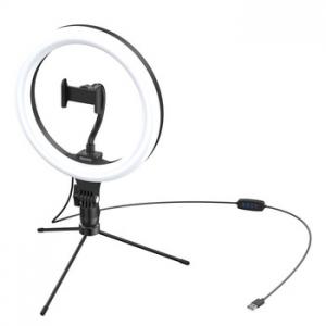 Baseus Ring lampa + mini stativ, barva černá