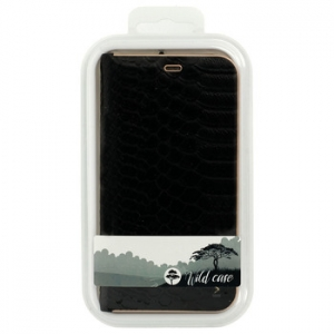 Pouzdro LUNA Book WILD, iPhone 12 Pro Max (6,7) barva černá