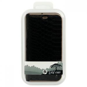 Pouzdro LUNA Book WILD, iPhone 12, 12 Pro (6,1) barva černá