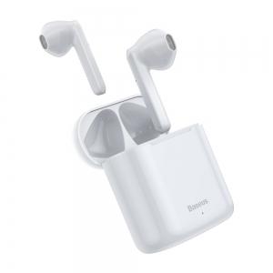Bluetooth headset Baseus TWS W09, barva bílá