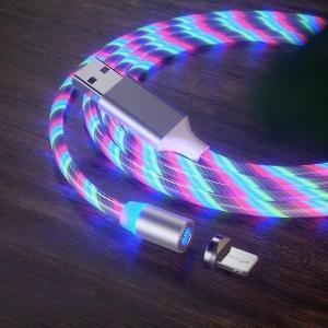 Datový kabel X-CABLE svítící 3v1 (lightning, micro USB, TYP-C) barva tříbarevný