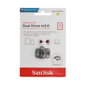 USB Flash Disk (PenDrive) SANDISK ULTRA DUAL DRIVE 32GB USB 3.0 150MB/s - Micro USB