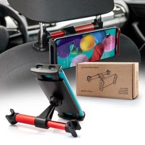Držák do auta REAR na opěrku sedačky, barva červená/černá