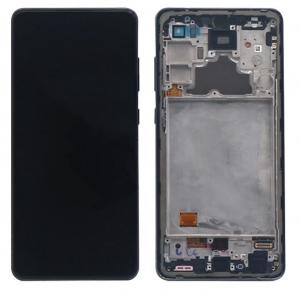 Dotyková deska Samsung A726, A725 Galaxy A72 5G, A72 + LCD black Service Pack - originál
