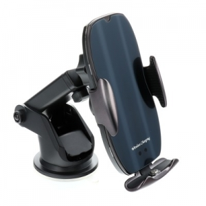 Držák do auta HS2 s indukčním nabíjením, QI 15W, barva černá