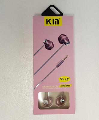 Hands Free KIN Super Bass 3,5 mm jack, barva růžová