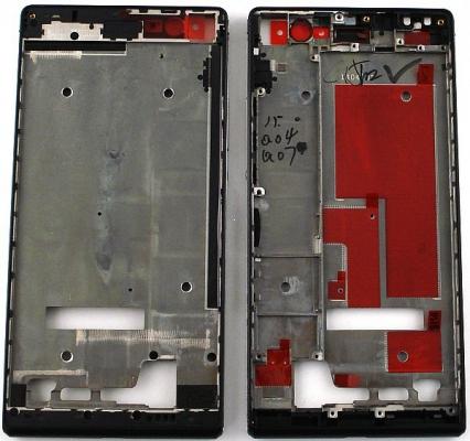 Huawei P7 přední / střední kryt černá