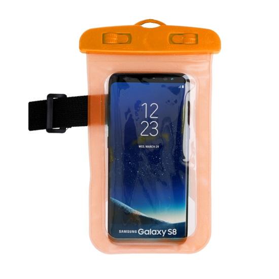 Pouzdro voděodolné barva oranžová zámek plastový