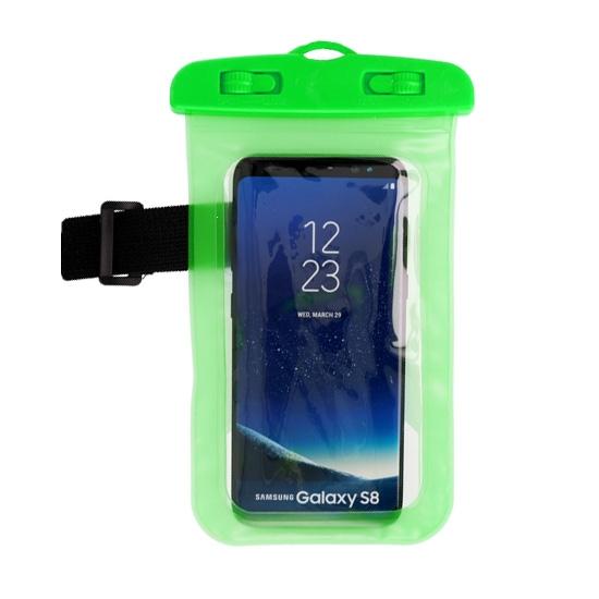 Pouzdro voděodolné barva zelená zámek plastový