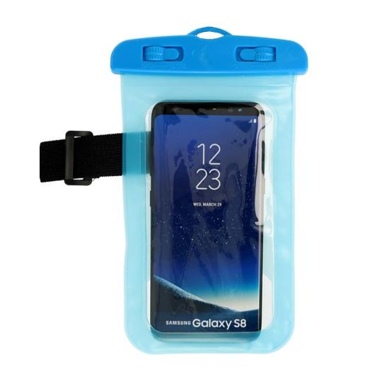 Pouzdro voděodolné barva modrá zámek plastový