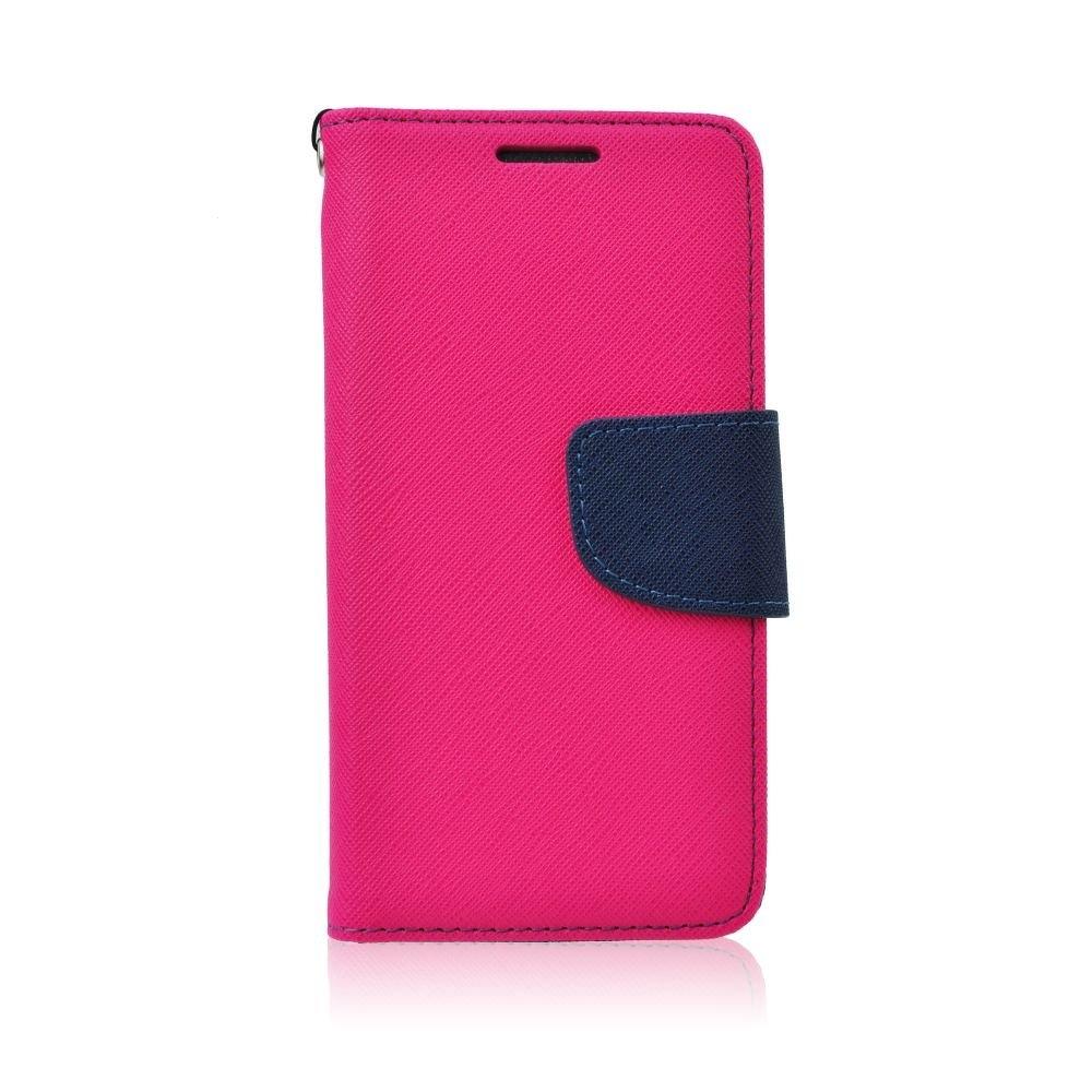 Pouzdro FANCY Diary TelOne Sony Xperia M4 AQUA E2303 barva růžová/modrá