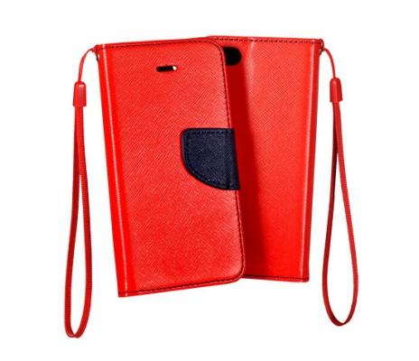 Pouzdro FANCY Diary TelOne iPhone 5, 5S, 5C, SE barva červená/modrá