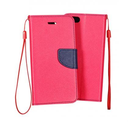 Pouzdro FANCY Diary TelOne iPhone 5, 5S, 5C, SE barva růžová/modrá