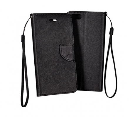 Pouzdro FANCY Diary TelOne iPhone 5, 5S, 5C, SE barva černá