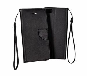 Pouzdro FANCY Diary iPhone 5, 5S, 5C, SE barva černá