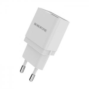 Cestovní nabíječ USB universál 1A BA19A BOROFONE barva bílá