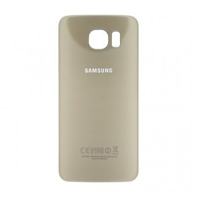 Samsung G920 Galaxy S6 kryt baterie + lepítka zlatá