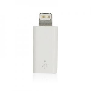 Redukce micro USB / Lightning barva bílá