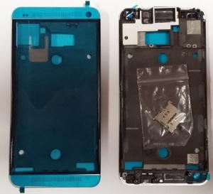 HTC ONE M7 kryt přední stříbrná + SIM Card reader
