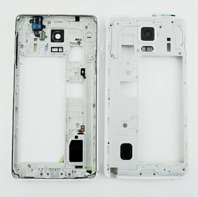 Samsung N910 Galaxy NOTE 4 kryt střední bílá