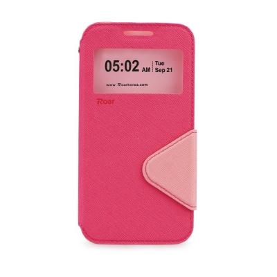 Pouzdro FANCY Diary ROAR Sony Xperia Z5 mini/compact E5823 barva růžová