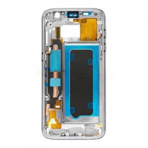 Samsung G930 Galaxy S7 kryt střední originál + boční tlačítka a flexy tlačítek zlatá