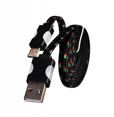 Datový kabel micro USB - Svítící barva černá