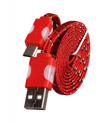 Datový kabel micro USB TYP-C - Svítící barva červená