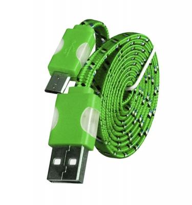 Datový kabel micro USB TYP-C - Svítící barva zelená