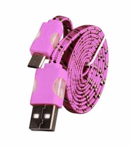 Datový kabel micro USB Typ C - Svítící barva růžová