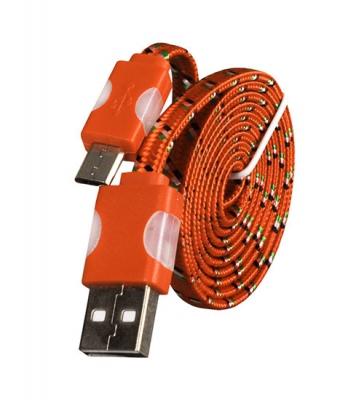 Datový kabel micro USB TYP-C - Svítící barva oranžová