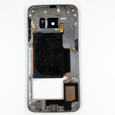Samsung G925 Galaxy S6 Edge kryt střední swap + boční tlačítka a flexy tlačítek černá / modrá
