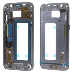 Samsung G935 Galaxy S7 Edge kryt střední originál + boční tlačítka a flexy tlačítek černá