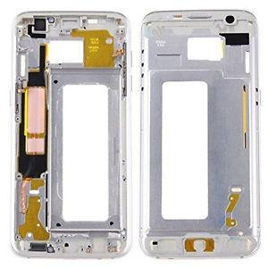 Samsung G935 Galaxy S7 Edge kryt střední originál + boční tlačítka a flexy tlačítek bílá