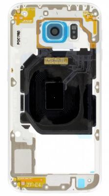 Samsung G920 Galaxy S6 kryt střední - osazený zlatá
