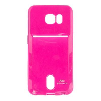 Pouzdro ROAR Jelly Pocket Card Samsung G920 Galaxy S6 barva růžová