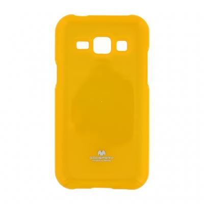 Pouzdro MERCURY Jelly Case Samsung J100 Galaxy J1 žlutá