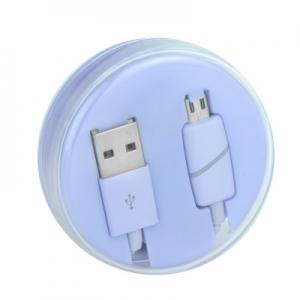 Datový kabel micro USB barva fialová - Box