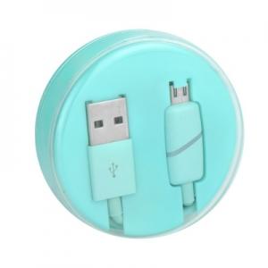 Datový kabel micro USB barva modrá - Box