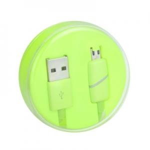 Datový kabel micro USB barva zelená - Box