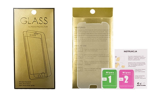 Tvrzené Sklo 9H Huawei P8 LITE GoldGlass