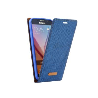 Pouzdro CANVAS FLEXI Huawei P9 flip s magnetem barva modrá
