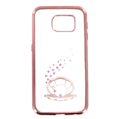 Pouzdro Bling Rosegold Collection Samsung G930 Galaxy S7 seashell