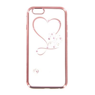 Pouzdro Bling Rosegold Collection Samsung G920 Galaxy S6 srdce