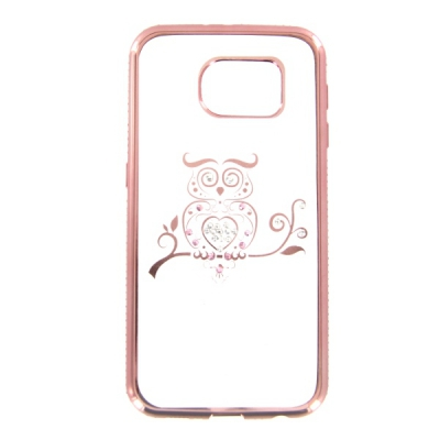 Pouzdro Bling Rosegold Collection Samsung G930 Galaxy S7 sova
