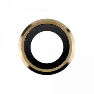 Sklíčko zadní kamery iPhone 6, 6S 4,7 + rámeček zlatá